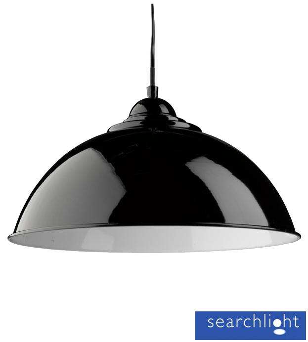 pendant light black with white inner 8140bk from easy lighting