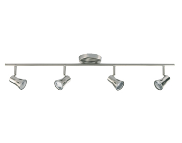 Endon Krius 4 Light Bar Spotlight, Satin Chrome Finish - 814-SC