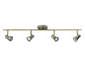 Endon Krius 4 Light Bar Spotlight, Antique Brass Finish - 814-AN