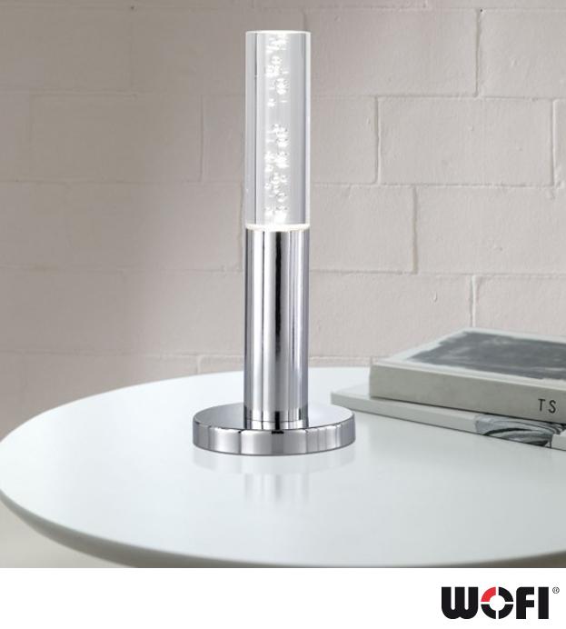 Wofi Midu Led 1 Light Table Light Polished Chrome