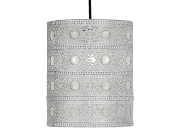 Oaks Lighting Marley Non-Electric Ceiling Pendant, Ivory Finish - 8201 IV