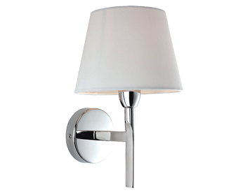 Firstlight Transition Single Wall Light, Polished Stainless Steel Finish With Cream Shade - 8217PST