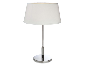 Firstlight Transition Table Lamp, Polished Stainless Steel Finish With Cream Shade - 8220PST