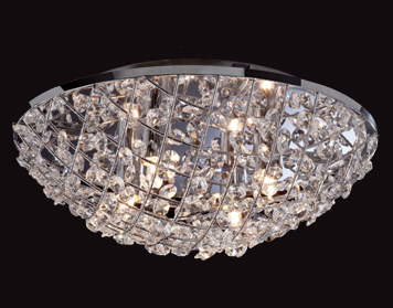 Firstlight Gemma Flush Fitting Ceiling Light, Chrome Finish With Crystal - 8252CH