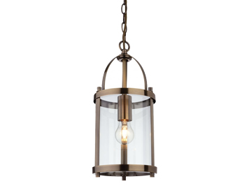 Firstlight Imperial Lantern, Antique Brass Finish With Clear Glass - 8300AB
