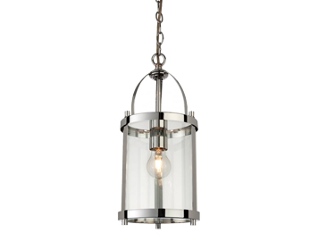 Firstlight Imperial Lantern, Chrome Finish With Clear Glass - 8300CH