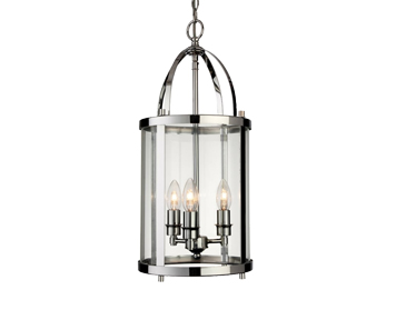 Firstlight Imperial 3 Light Lantern, Chrome Finish With Clear Glass - 8301CH