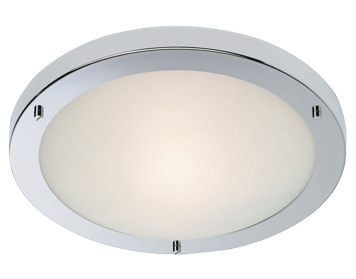 Firstlight Rondo LED Flush Fitting Ceiling Light, Chrome Finish With Opal Glass - 8611CH