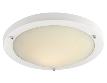 Firstlight Rondo LED Flush Fitting Ceiling Light, Matt White Finish With Opal Glass - 8611WH