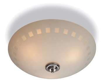 Firstlight Daisy Flush Fitting Ceiling Light, Opal Glass Finish With Decorative Pattern - 8315