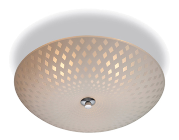 Firstlight Celine Flush Fitting Ceiling Light, Opal Glass Finish With Decorative Pattern - 8316