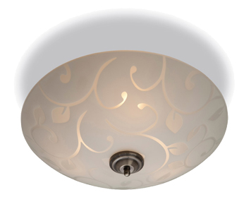 Firstlight Sadie Flush Fitting Ceiling Light, Opal Glass Finish With Decorative Pattern - 8317