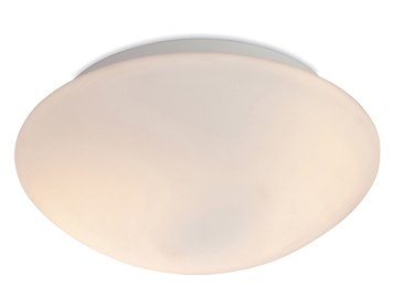 Firstlight Vento Flush Fitting Ceiling Light, Opal Glass Finish - 8343