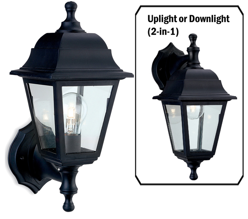 Firstlight Oslo 4 Panel Resin Outdoor Wall Lantern Black Resin Finish 8346bk From Easy Lighting