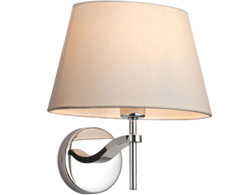 Firstlight Princess Wall Light, Stainless Steel With Cream Shade - 8369CR