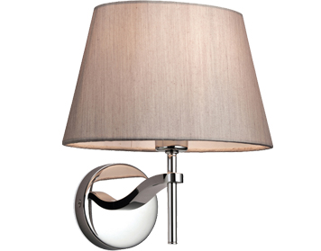 Firstlight Princess Wall Light, Stainless Steel With Oyster Shade - 8369OY