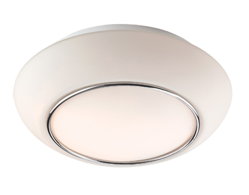 Firstlight Style Flush Fitting Ceiling Light, Opal Glass With Chrome - 8377CH