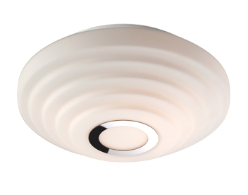 Firstlight Style Flush Fitting Ceiling Light, Opal Glass With Chrome - 8379CH