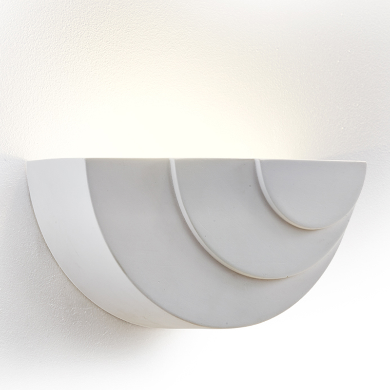 Searchlight LED Wall Uplighter, Paintable White Plaster - 8433
