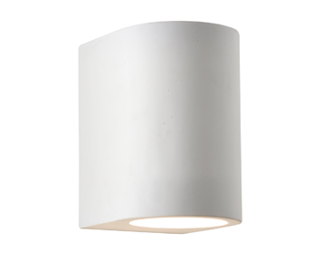 Searchlight 1 Light Wall Washer Up/Downlighter, White Plaster Finish - 8436