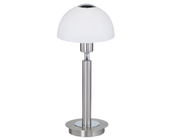 Action Amber 1 Light LED Switched Table Lamp, Matt Nickel - 857501640000