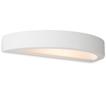 Firstlight Shimmer Plaster LED Wall Light White