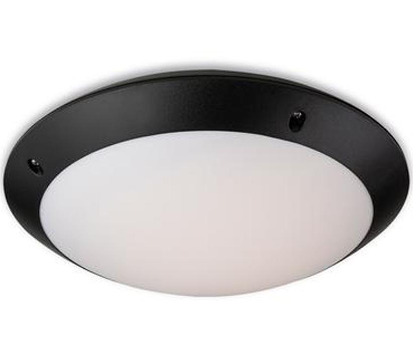 Firstlight Nevada Led Motion Activated Outdoor Flush Fitting Ceiling Light Black Finish 2344bk From Easy Lighting