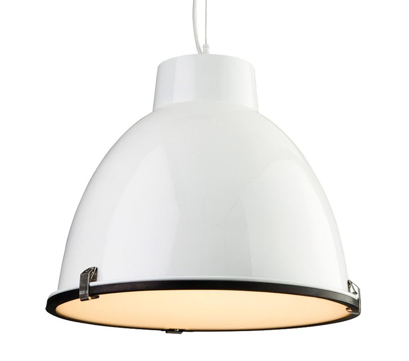Firstlight Manhattan 1 Light Pendant, White Finish With