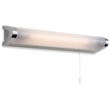 Bathroom strip lights from easy lighting firstlight amari ip44 low energy switched wall light chrome with polycarbonate diffuser aloadofball Image collections