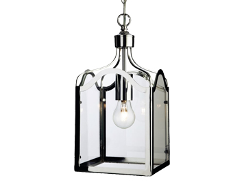 Firstlight Monarch Lantern, Chrome Finish With Clear Glass - 8637CH