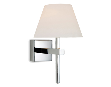 Firstlight Fabio Wall Light, Chrome Finish With Opal Glass - 8639CH