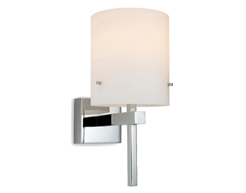 Firstlight Mario Wall Light, Chrome Finish With Opal Glass - 8640CH