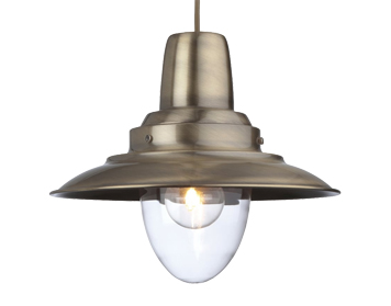 Firstlight Fisherman 1 Light Metal Pendant Ceiling Fixture, Antique Brass Finish - 8645AB