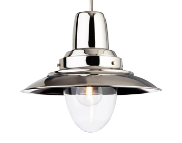 Firstlight Fisherman 1 Light Metal Pendant Ceiling Fixture, Chrome Finish - 8645CH