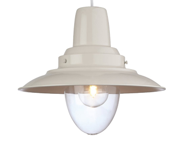 Firstlight Fisherman 1 Light Metal Pendant Ceiling Fixture, Cream Painted Finish - 8645CR