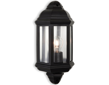 Firstlight Park Outdoor Wall Light, Black Polycarbonate Finish - 8655BK