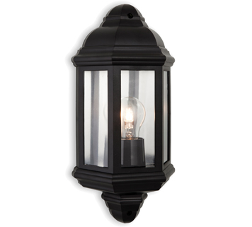 Black outdoor wall lights from easy lighting firstlight park ip44 outdoor wall light black polycarbonate 8655bk aloadofball Choice Image