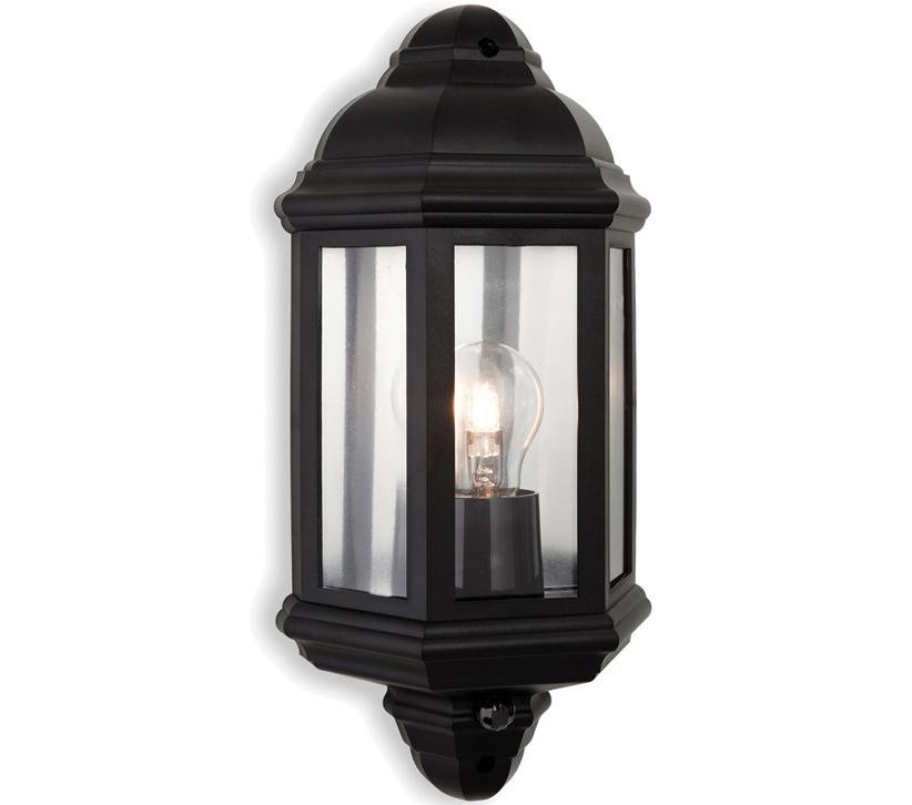 Outdoor Wall Lights Uk With Pir: Firstlight Park Outdoor PIR Sensor Wall Light, Black