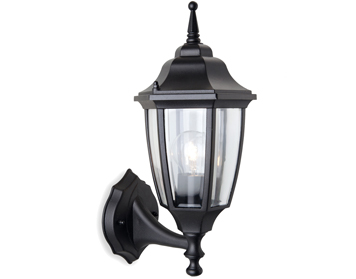 Firstlight Faro Outdoor Upward Wall Lantern, Die Cast Aluminium, Black Finish - 8661BK