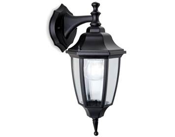 Firstlight Faro Outdoor Downward Wall Lantern, Die Cast Aluminium, Black Finish - 8662BK
