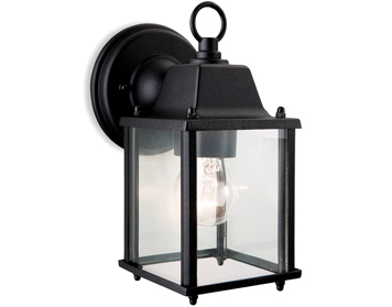 Firstlight Coach Outdoor Wall Lantern, Die Cast Aluminium, Black Finish - 8666BK