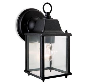 Firstlight U0027Coachu0027 IP23 Outdoor Wall Lantern, Die Cast Aluminium, Black    8666BK
