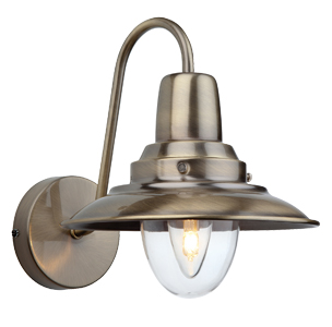Firstlight Fisherman Wall Light Cream With Clear Glass