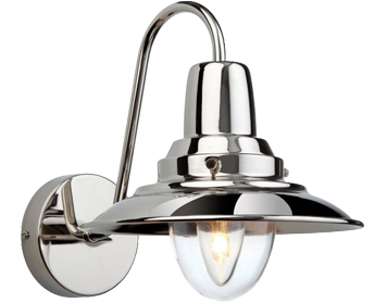 Firstlight Fisherman Wall Light, Chrome With Clear Glass - 8686CH