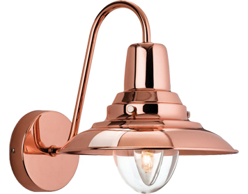 Firstlight Fisherman Wall Light, Copper With Clear Glass - 8686CP