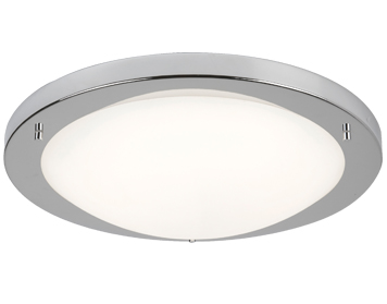 Searchlight Flush LED Ceiling Light, Satin Silver Finish With Opal Glass - 8703SS