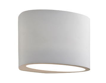 Searchlight 1 Light Wall Washer Up/Downlighter, White Plaster Finish - 8721