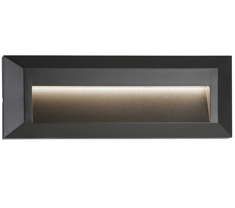 Searchlight Ankle Outdoor LED Slot Wall/Ceiling Light, Dark Grey