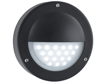 Searchlight 1 Light Outdoor LED Wall Light, Black Finish - 8744BK