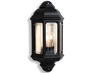 Firstlight Villa Outdoor Wall Lantern Die Cast Aluminium Black